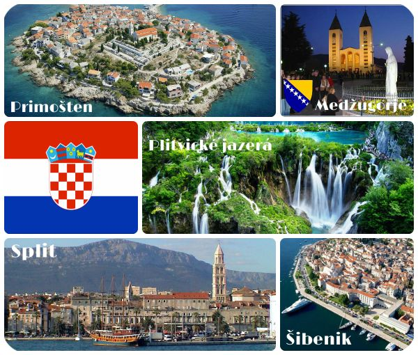 Chorvatsko s nadpismi a oramovanim mensi