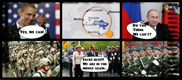 Rusko vs USA a EU v strede